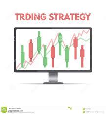 Chart Advisor Candlestick Chart Trade Advisor Concept Stock Vector