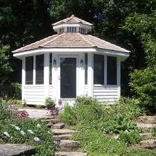 a stunning place to enjoy a nice garden this stand alone gazebo was created to