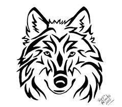 wolf face drawing tribal. Delighful Wolf Tribal Wolf Head Tattoo By RayaHinatodeviantartcom On DeviantArt Inside Face Drawing R