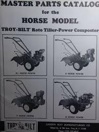 troy bilt horse roto tiller master parts manual 1980 garden way 4 5