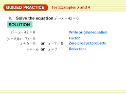 guided practice for examples 3 and 4 8 solve the equation x 2 x