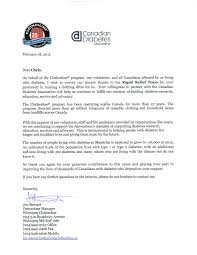 ca runs clothing drive to support diabetes rapid relief  rrt letter cda 2
