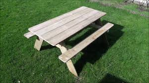 Table With Drink Trough How To Make A Picnic Table Youtube