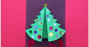 Folded Christmas Tree Craft For Kids