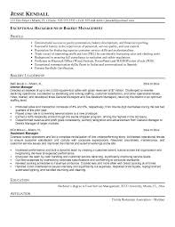 Best Ideas of Sample Resume For Baker With Free