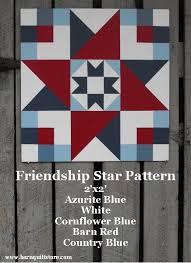 Best 25+ Barn quilts ideas on Pinterest | Barn quilt patterns ... & Painted Wood Barn Quilt Friendship Star by TheBarnQuiltStore, $65.00 Adamdwight.com
