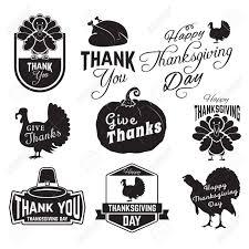 感謝祭のクリップアートのセットですタグラベルおよび感謝祭のシンボル