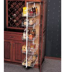 Kitchen Cabinet Slide Out Kitchen Pantry Roll Out Storage System Unstained Wooden Slide Out