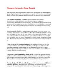 Characteristics Of A Good Budget By Henry Biegacz Issuu