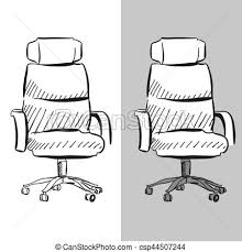 office chair drawing. Perfect Office Office Chair Vector Sketch In Drawing W