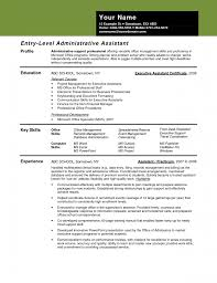 Resume Examples Administrative Assistant Skills Image Entry Level Sample 1 Png