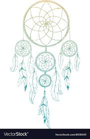 Set It Off Dream Catcher Classy Hand Drawn Dream Catcher Royalty Free Vector Image