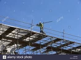 Scaffold Builders Builders High Up Working On Scaffold Stock Photo 60604237