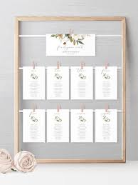 White Magnolia Seating Hanging Seating Chart Template