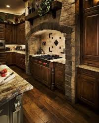 Stone Kitchen Old World Tile And Stone Backsplash Stone Range Hoods Mediavel