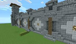 minecraft wall designs. Minecraft Wall Designs Design Looking South Castle Wood