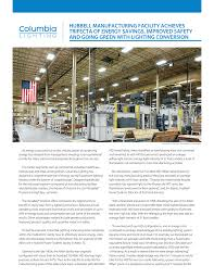 Aiken Lighting Center Hubbell Manufacturing Facility Achieves Trifecta Of Energy