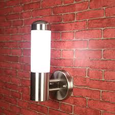 Arts And Crafts Wall Lights Us 26 99 10 Off Art Craft Stainless Steel Led Aisle Wall Sconce Outdoor Led Spot Lights Wall Lamp Acrylic E27 Garden Yard Fixture Light Ip65 In Led