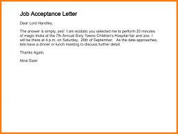 letter of job acceptance job acceptance letter email rome fontanacountryinn com
