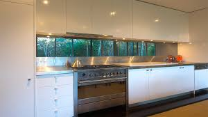 mirraglo fushion 3 9 metre extra long one piece kitchen mirror glass splashbacks on stainless