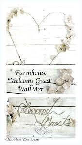 farmhouse wall art welcome guest bedroom decorating idea bathroom farmhouse wall art