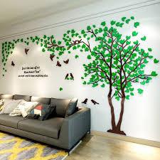 3d wall sticker clover green l 1 5 x 3