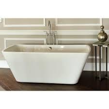 Acrylic Bathroom Sink Reclaim 56 Ft Acrylic Rectangle Flatbottom Non Whirlpool Bathtub