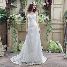 fitted a line sweetheart corset back lace wedding dress with straps