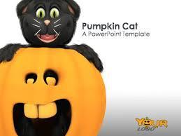 Pumpkin Cat A Powerpoint Template From Presentermedia Com