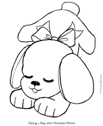 Coloring page with a fluffy puppy. Puppy Coloring Pages Free And Printable