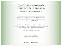 blank ordination certificates certificate for bishops
