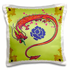 dragon inspired gifts.  Dragon 3dRose Colorful Chinese Dragon And Oriental Flowers Asian Inspired Vector  Designs Gifts  Pillow Case In G