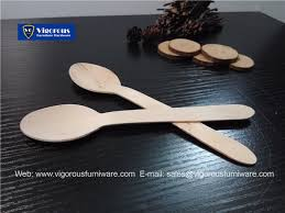 vigorous manufacture of wooden disposable spoon fork coffee