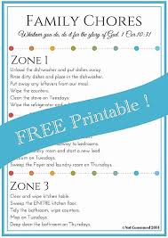 Chore List For Families Free Editable Family Chore Chart Homeschool Giveaways