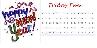 Friday Fun Word Search Happy New Year