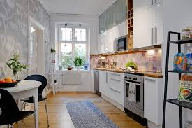 kitchen decorating ideas for apartments. Small Kitchen Decorating Ideas For Apartment Dining Chairs Plus Tables Retro Sink Faucet Design Built In Cabinet Modern Double Galley Style Apartments