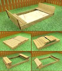 plans sand box with benches a sandbox covered wooden plans