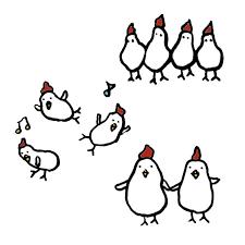 鶏友達の手書きイラスト 無料 イラストk