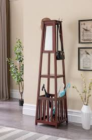 Hall Coat Rack With Storage Interior Entryway Coat Tree Glamorous Storage Ideas Antique Bench 83