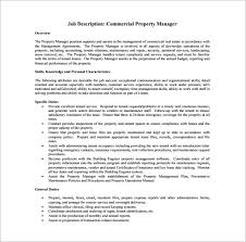 Apartment Manager Duties 9 Property Manager Job Description Templates Free Sample Example