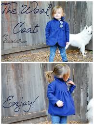 winter wonderland dress tutorial diy wool kids coat