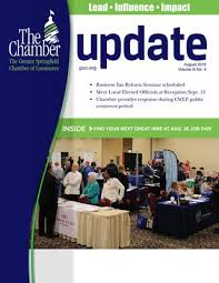 Update August 2018 By The Greater Springfield Chamber Of