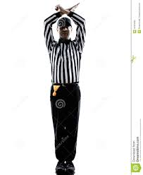 american football referee gestures personal foul silhouette stock american football referee gestures personal foul silhouette