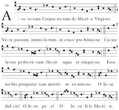 ave verum corpus sheet music ave verum corpus gregorian chant hymns