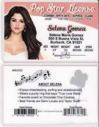 License Id Ca Pop Star Selena Gomez Card Ebay California Drivers Burbank Fake
