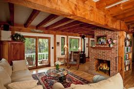 Rustic Living Room Decor Colorful Rustic Living Room Ideas Brown Tile Brick Fireplace White