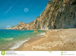 Paradise Beach Near Liapades, Western Of Corfu Island, Greece Stock Photo  45525340 - Megapixl