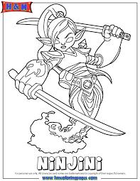 Small Picture Skylanders Giants Magic Series1 Ninjini Coloring Page H M