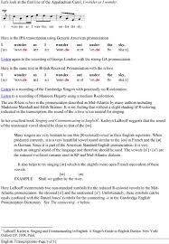 Ipa Chart For Singers English Transcriptions Pdf Free Download