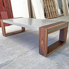 concrete and wood furniture. Modern Wood And Concrete Table Furniture O
